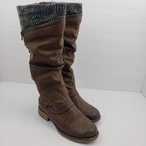 "Muk Luks Womens Size 7 Brown 15"" Knee High Boots"